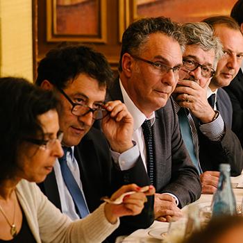 Déjeuner avec Bertrand Pulman et Philippe Gillet