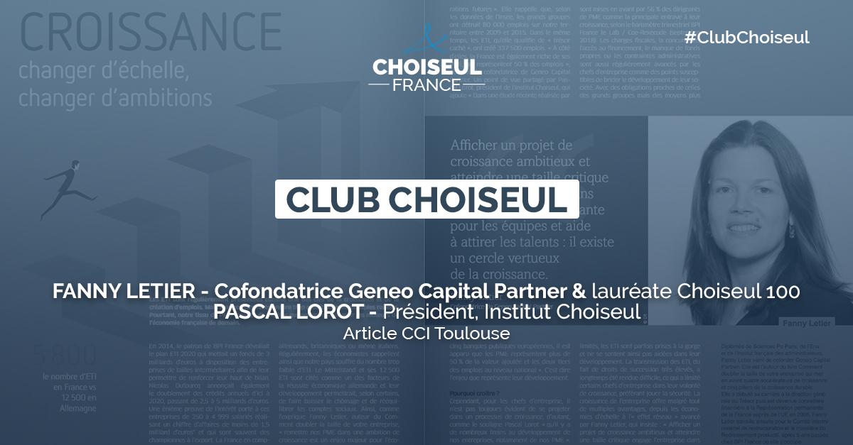« Croissance : changer d'échelle, changer d'ambition » – L'article de Fanny Letier & Pascal Lorot