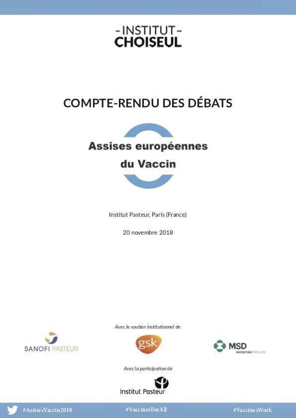 Assises européennes du Vaccin – Compte-rendu des débats