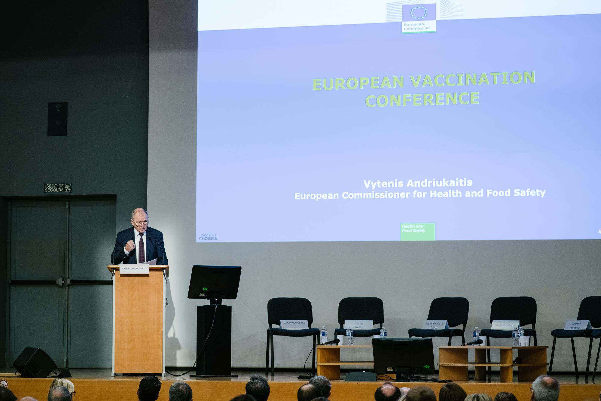 Assises européennes du Vaccin en vidéo – Discours d'ouverture de Vytenis Andriukaitis, Commissaire européen à la Santé