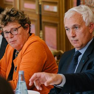 Déjeuner santé avec Isabelle Adenot et Pierre Moustial