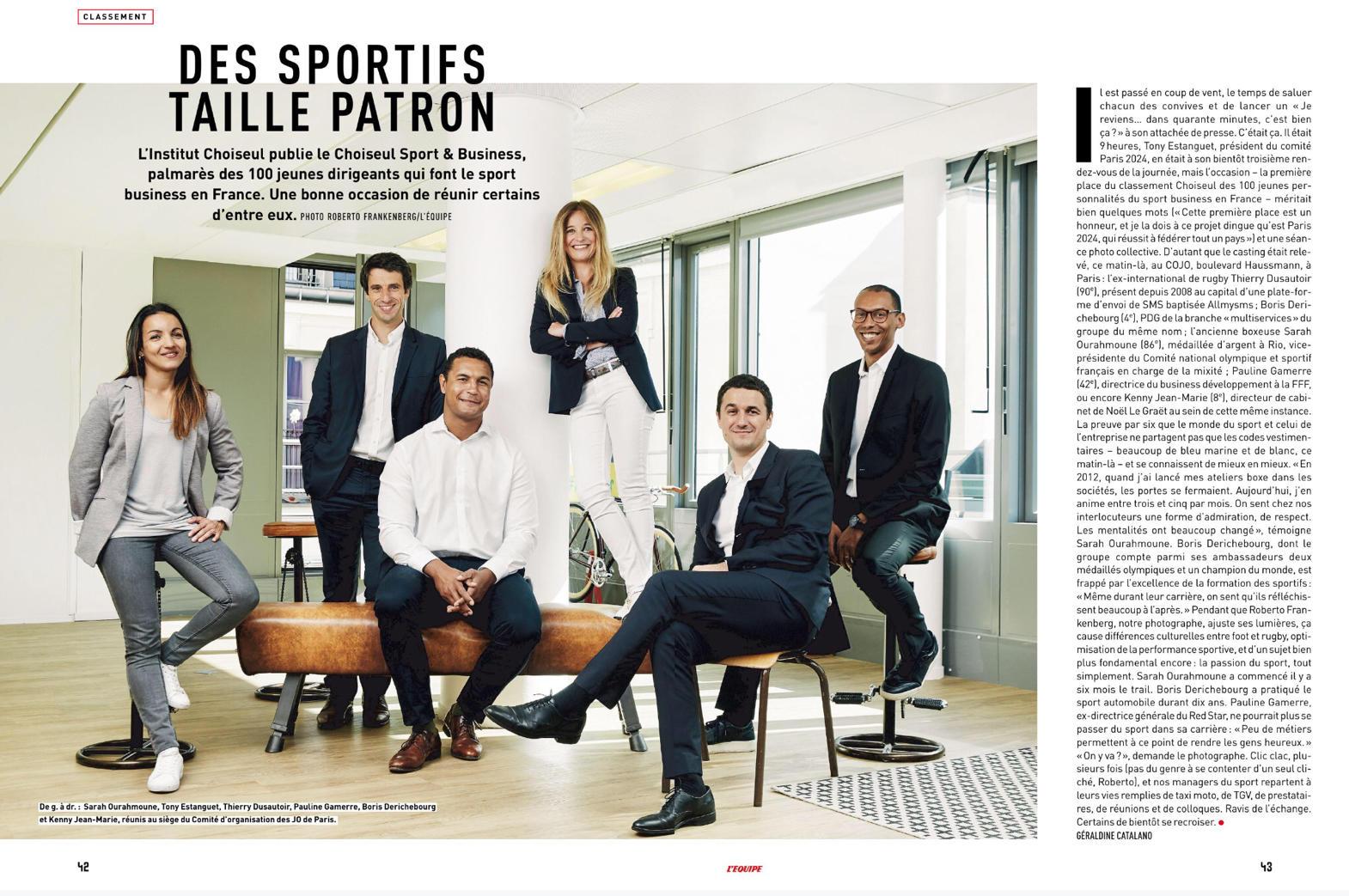 Dossier Choiseul Sport & Business par l'Équipe Magazine