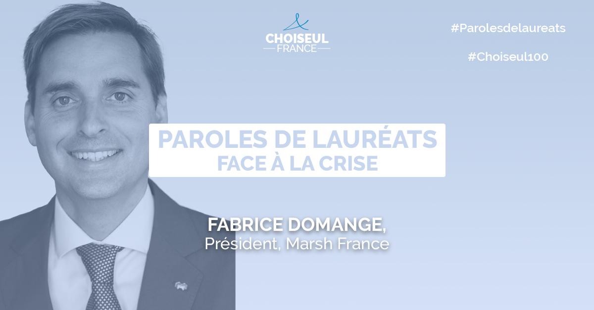 Paroles de lauréats : Fabrice Domange