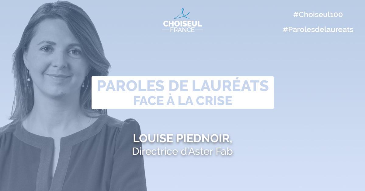 Paroles de lauréats : Louise Piednoir