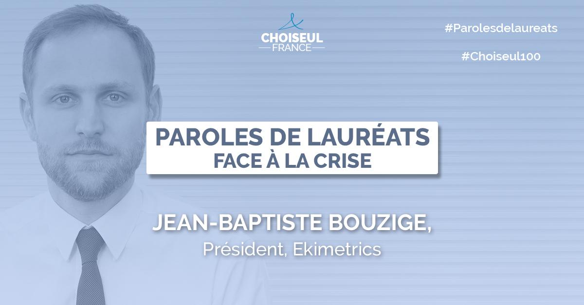 Paroles de Lauréats : Jean-Baptiste Bouzige